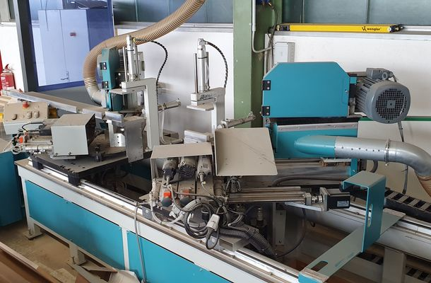 Double sided panel sizing and dovetail milling machine / HOFFMANN /